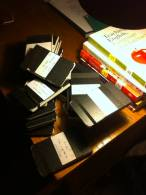 Pile of Full Notebooks