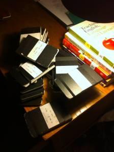 Pile of Full Notebooks