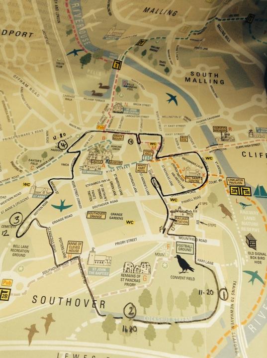 Lewes Map