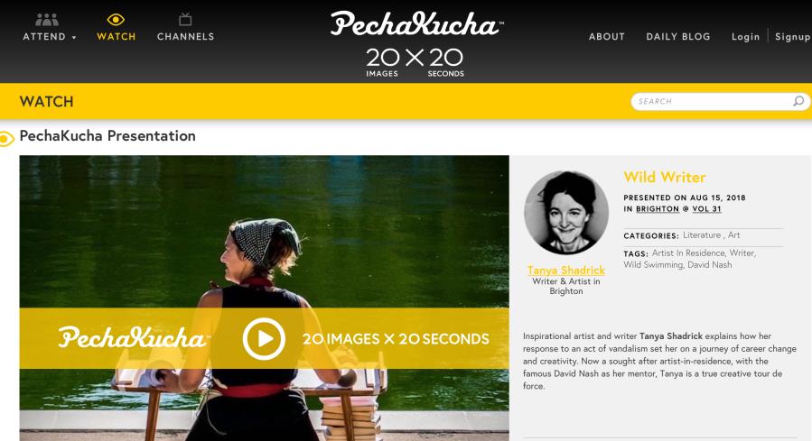 PechaKucha Wild Writer