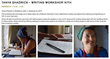 Wealden Lit Fest Kith Workshop