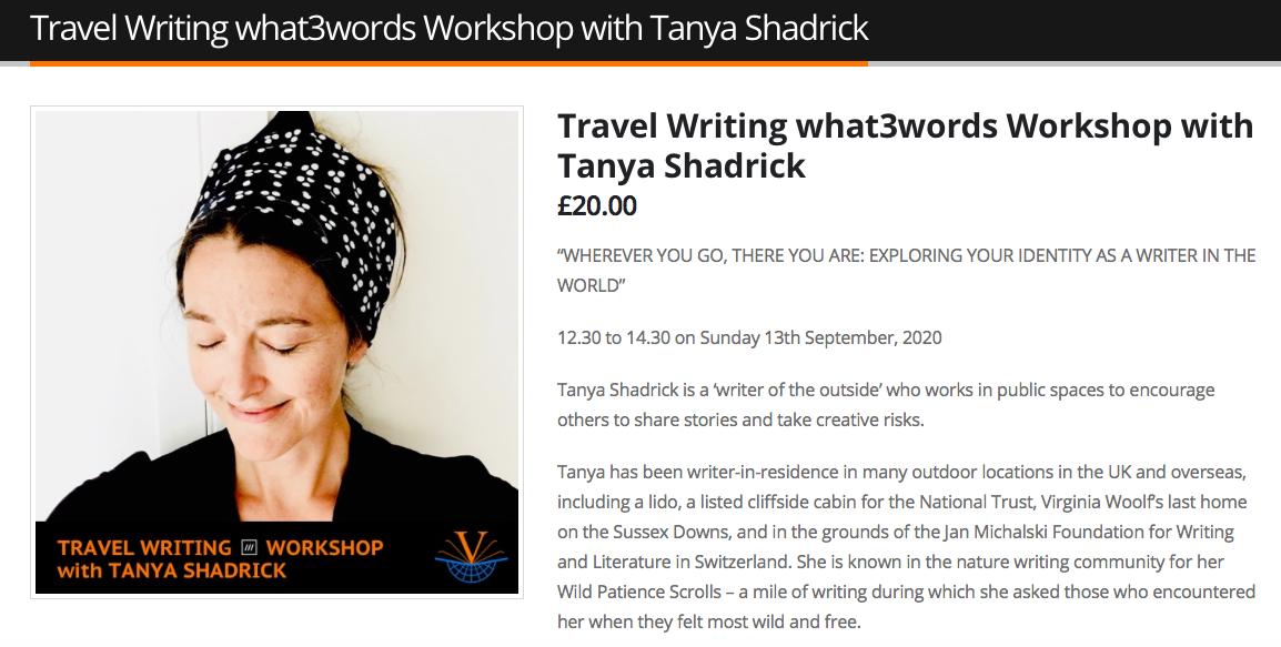 Tanya Shadrick at Vicarious Festival Sept 2020