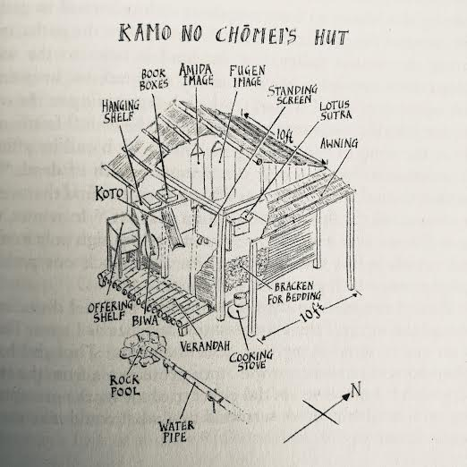 Kamo No Chomei's Hut - Illustration from Penguin Classics edition (2013)
